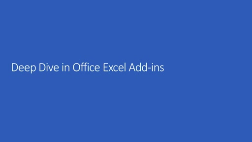 Deep Dive into Office Add-ins for Excel
