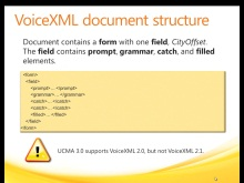 Using VoiceXML in a UCMA 3.0 Core Application