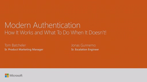 Dive into Modern Authentication – how it works and what to do when it doesnt