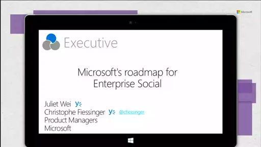 Microsoft's roadmap for Enterprise Social