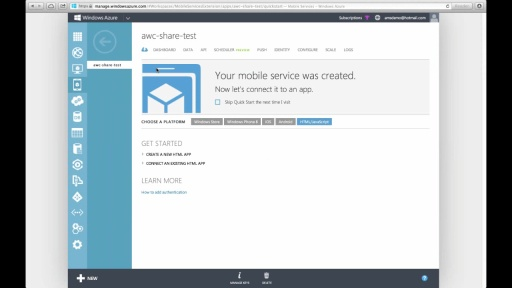 Using Windows Azure Mobile Services and Web Sites for a Mobile Contest — Part 2