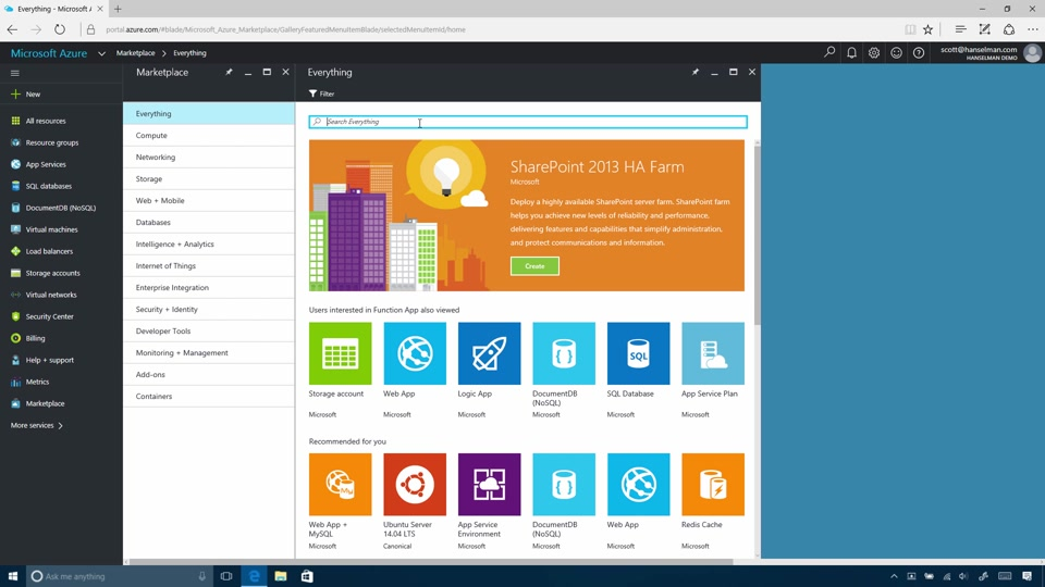 Get Started with Azure Portal
