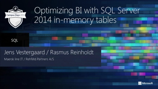 Optimizing BI with SQL Server 2014 in-memory database