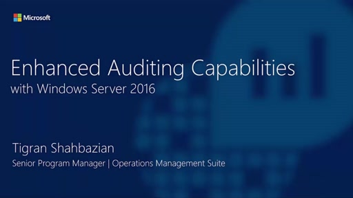 OMS Integration and Auditing with Windows Server 2016