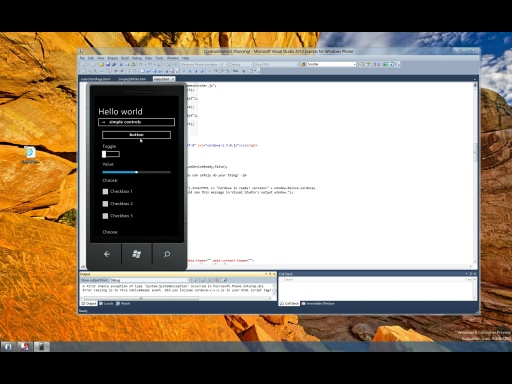 Simple HTML5 based Windows Phone application with Apache Cordova and jQuery Mobile