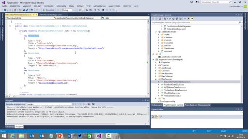 05 | Windows App Studio - App in Visual Studio erweitern