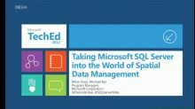 Taking SQL Server into the World of Spatial Data Management