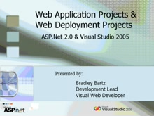 Web Application Projects & Web Deployment Projects