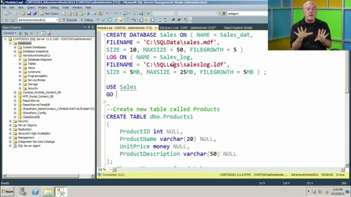 Database Fundamentals: (03) Creating Databases and Database Objects
