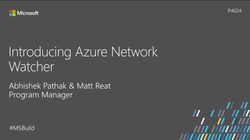 Introducing Azure Network Watcher