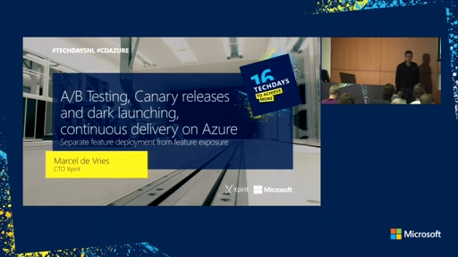 A/B Testing, Canary releases and dark launching, continuous delivery on Azure