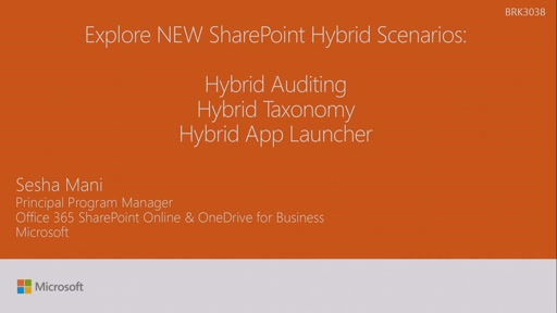 Explore new SharePoint hybrid scenarios: Hybrid Auditing, Hybrid Taxonomy, and Hybrid App Launcher