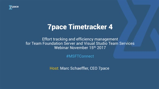Efficiency Management with Timetracker 4 for Team Foundation Server 2018