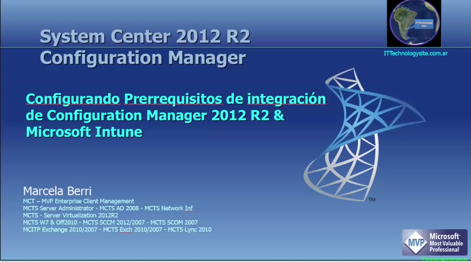 Configurando System Center R2 Configuration Manager 2012 con Ms Intune:  Prerrequisitos  (Parte 1/2)