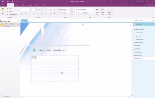 Section 5: OneNote Templates and Tables