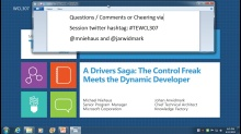 A Drivers Saga: The Control Freak Meets the Dynamic Developer