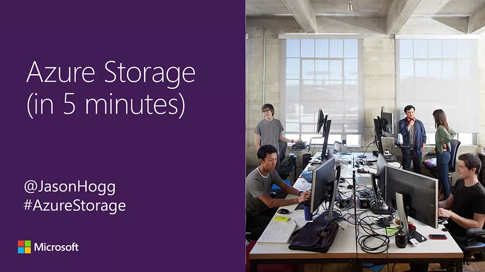 Azure Storage 5 Minute Overview