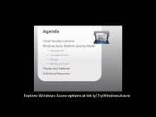 Windows Azure Platform Security Essentials: Module 1 – Security Architecture