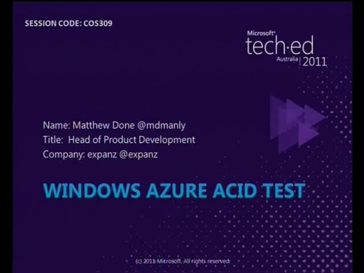 A Windows Azure Acid Test!