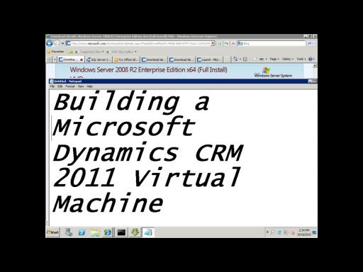 Building a CRM 2011 Virtual Machine