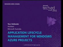 Application Lifecycle Management for Windows Azure projects