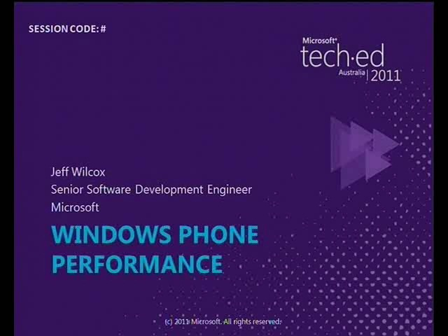 Analyzing and Improving Windows Phone Application Performance
