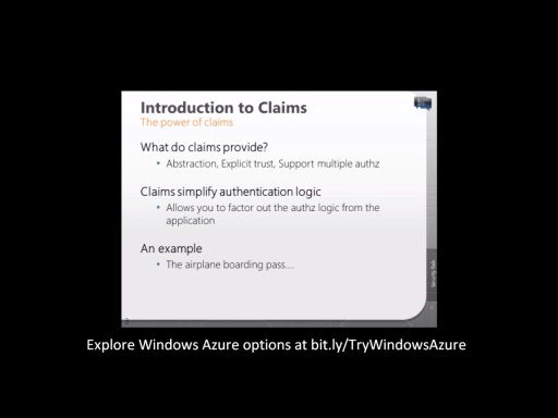 Windows Azure Platform Security Essentials: Module 2 – Identity Access Management