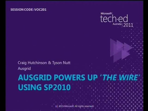 "Ausgrid powers up ""The Wire"" using SP2010"