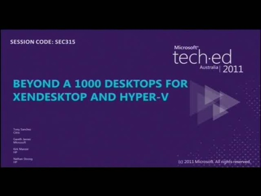 Beyond a 1000 virtual desktops with XenDesktop and Hyper-v