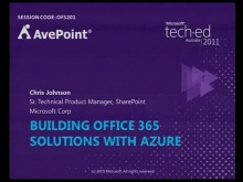 Building Office 365 Solutions with Azure