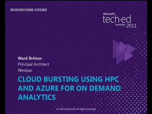Cloud Bursting using HPC and Azure for on Demand Analytics
