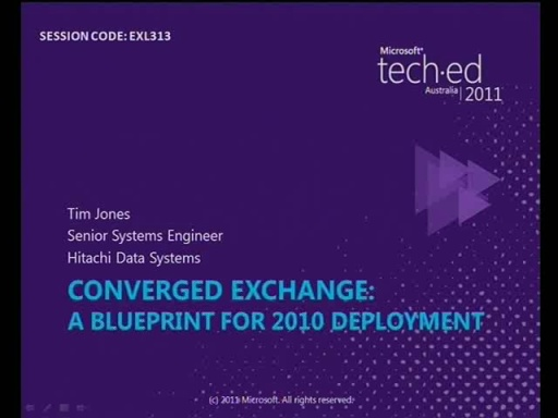 Converged Exchange: A Blueprint for 2010 deployment