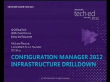 Configuration Manager 2012 Infrastructure Drill Down