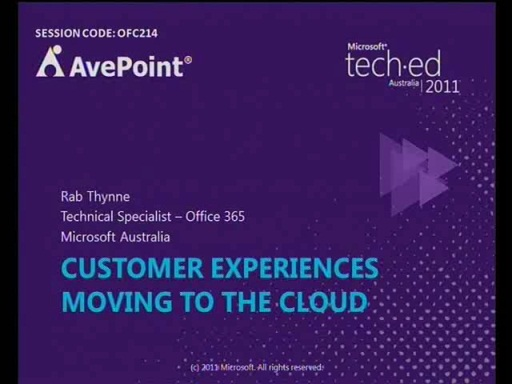 Customer experiences moving to the Cloud