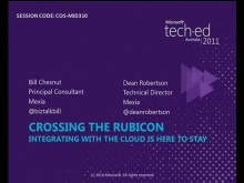 Crossing the Rubicon - Integrating with the Cloud Is Here to Stay