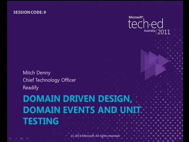 Domain Driven Development, Domain Events & Unit Testing