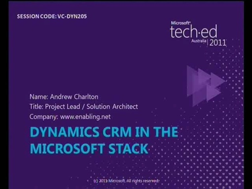 Dynamics CRM in the Microsoft Stack - ## Lessons Learned
