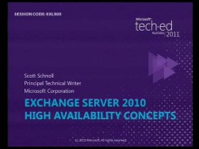 Exchange Server 2010: High Availability Concepts