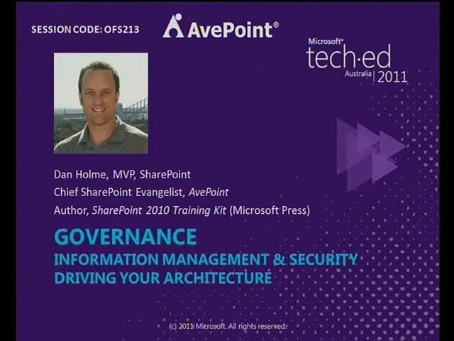 Governance: Information Management & Security Driving Your Architecture