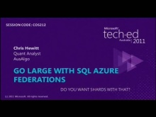 Go Large with SQL Azure Federations