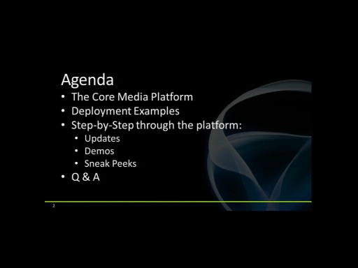 Silverlight Firestarter 2010 Session 8 - The Roadmap for Media with Silverlight