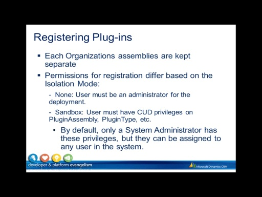 Plugins - Registration & Diagnostics