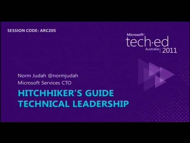 Hitchhiker's Guide To Technical Leadership