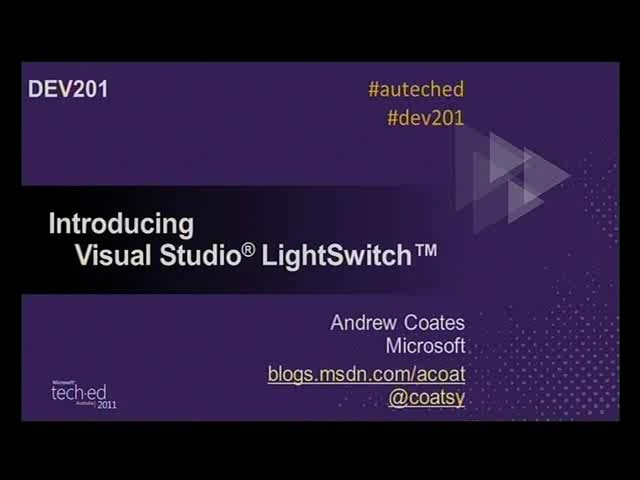Introducing Visual Studio LightSwitch