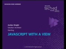 JavaScript with a view – advancing client side code
