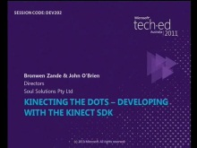 Kinecting The Dots – Developing with the Kinect SDK
