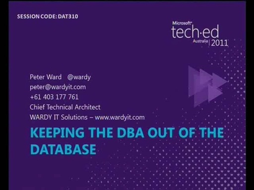 Keeping the DBA out of the database