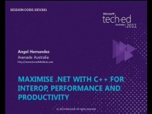Maximise .NET with C++ for interop, performance and productivity