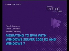 Migrating to IPv6 with Windows Server 2008 R2 and Windows 7