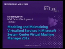 Modelling and Maintaining Virtualized Services in SCVMM 2012